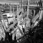 Terrasse coursive architecture gothique au sommet de la Cathédrale de Milan - Duomo di Milan
