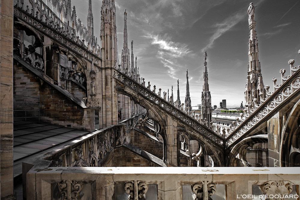 Coursive Terrasse de la Cathédrale du Duomo de Milan - Architecture Gothique - Duomo di Milano © L'Oeil d'Édouard