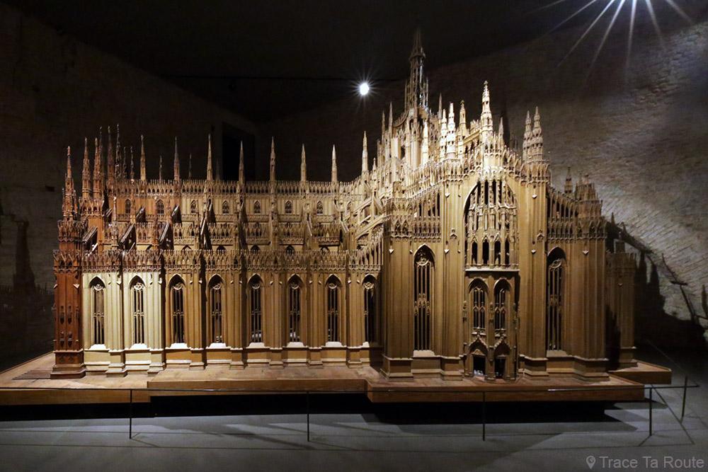 Exposition collection Musée du Duomo de Milan - Maquette en bois de la Cathédrale gothique - Museo del Duomo di Milano