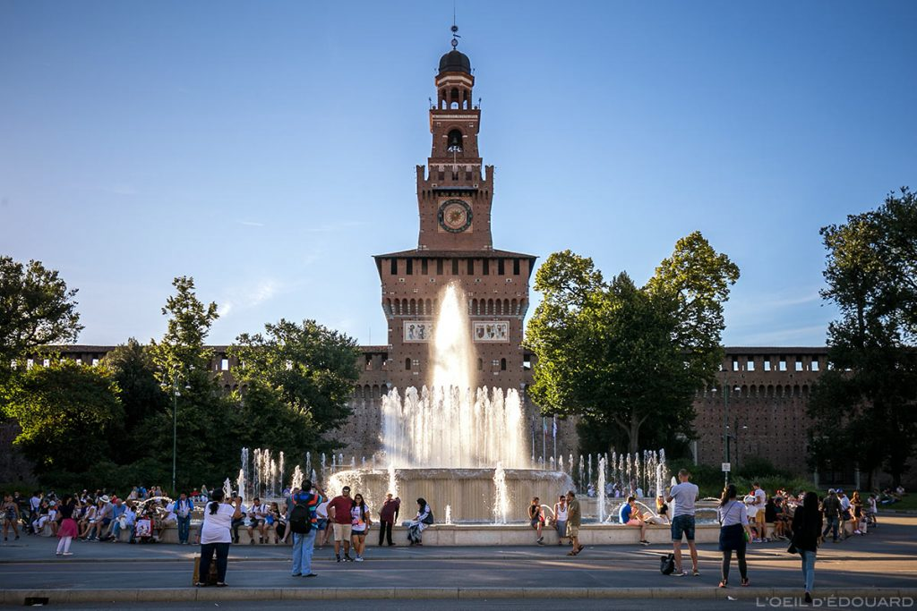 Le Château médiéval Sforza, à Milan - Castello Sforzesco di Milano © L'Oeil d'Édouard