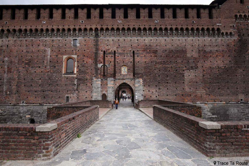 Entrée Château Castello Sforzesco de Milan