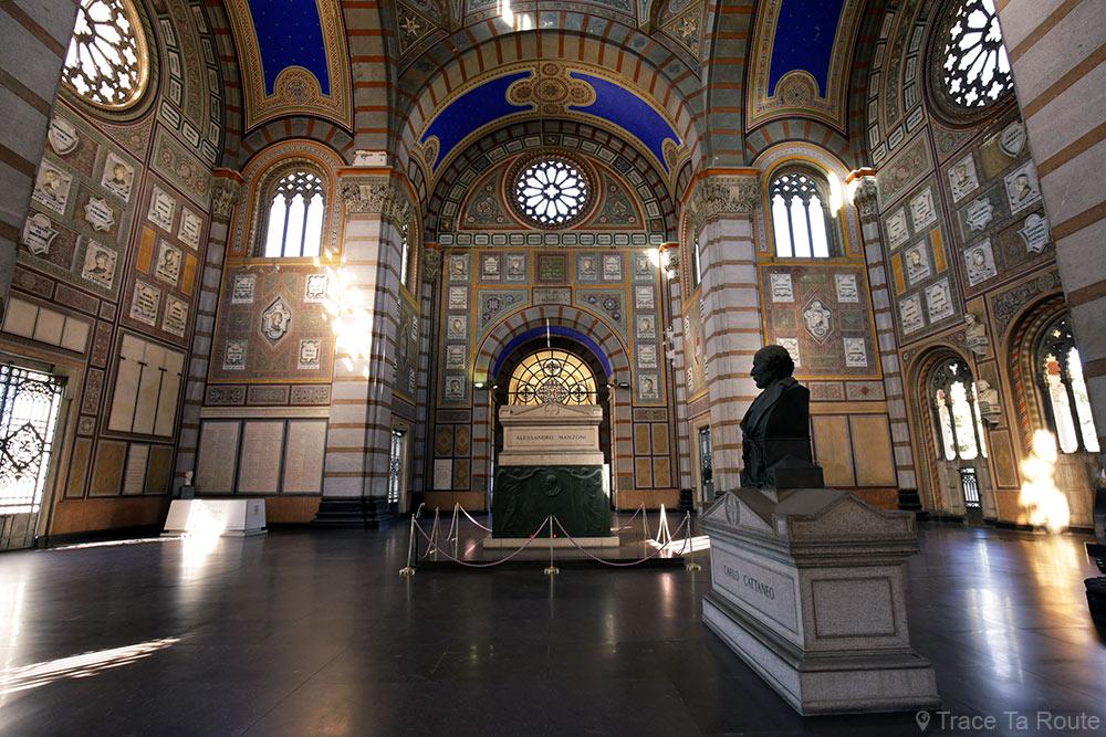 Famedio, Cimetière Monumental de Milan