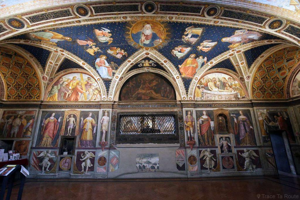 Fresques à l'intérieur du couvent de l'Eglise Saint-Maurice de Milan - Chiesa di San Maurizio al Monastero Maggiore di Milano
