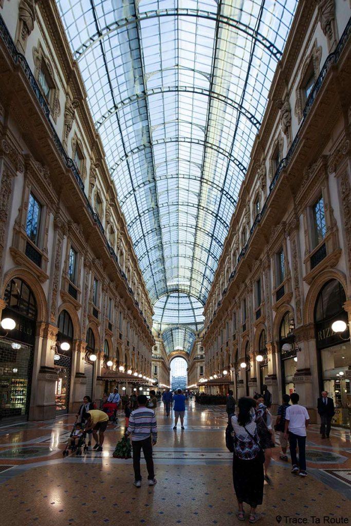 Verrière de la Galleria Vittorio Emanuele II de Milan