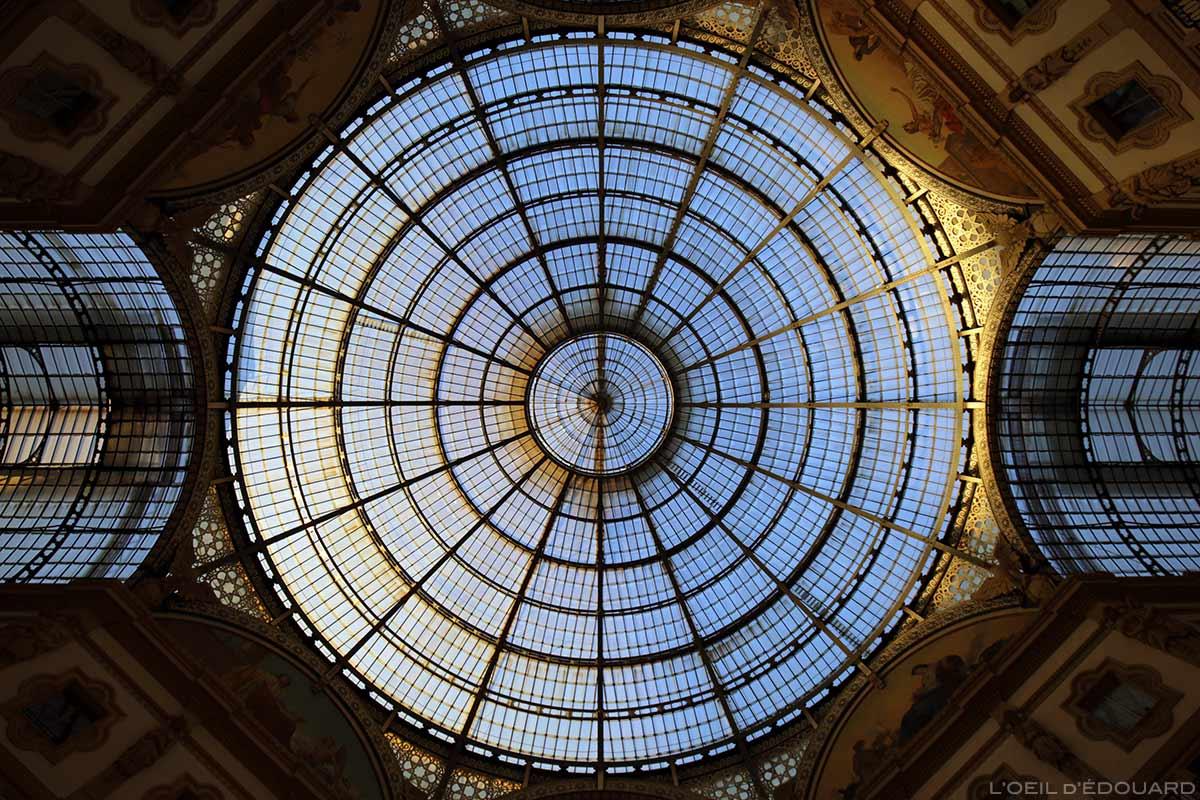Verrière de la Galleria Vittorio Emanuele II de Milan © L'Oeil d'Édouard