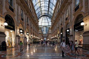 Allée Galleria Vittorio Emanuele II de Milan