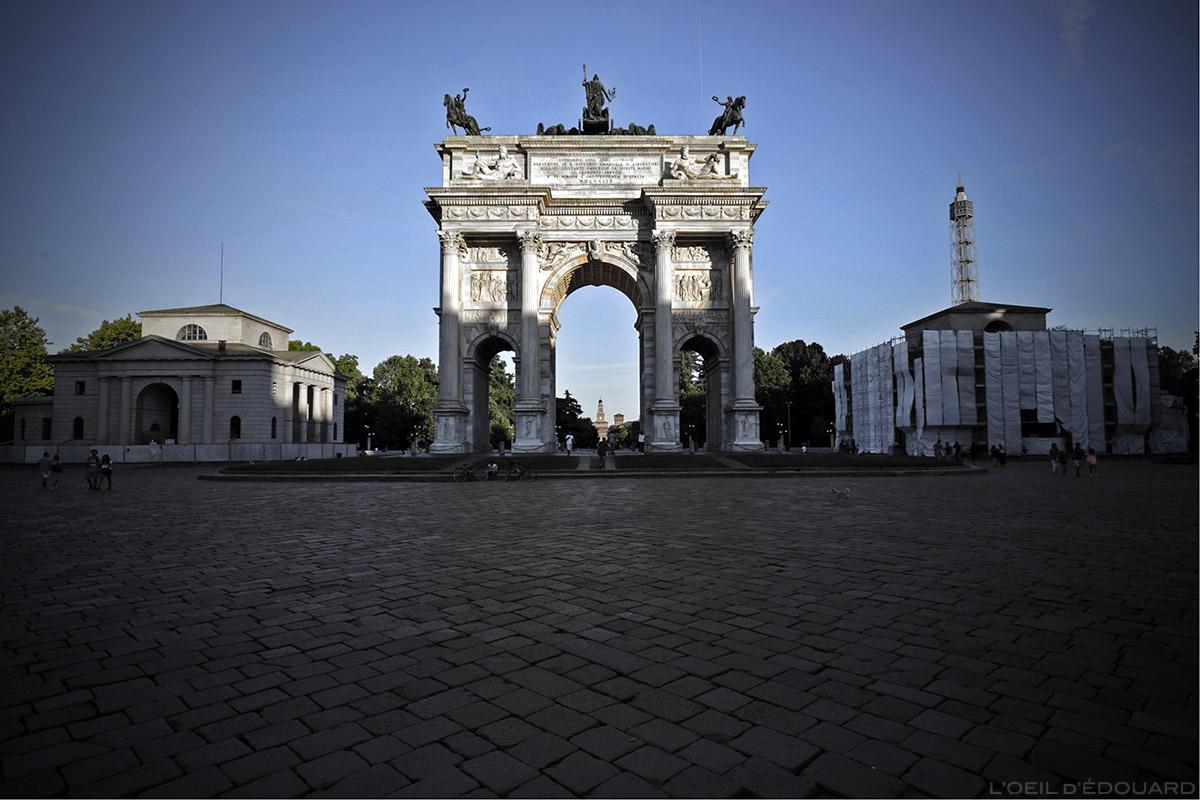 Arc de Triomphe Arco della Pace, Parco Sempione à Milan © L'Oeil d'Édouard