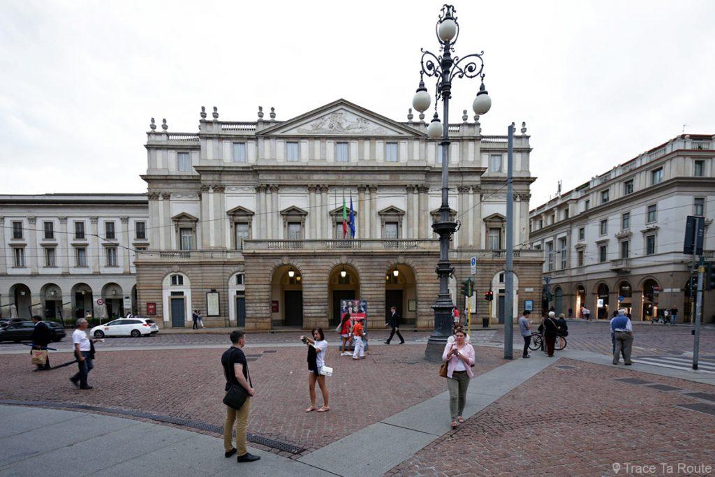 Théâtre de La Scala de Milan, façade extérieure sur la Piazza della Scala - Teatro alla Scala di Milano