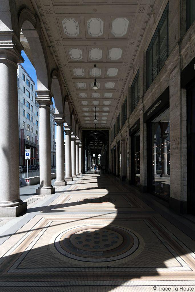 Rue couverte de Milan : Arcades Corso Giacomo Matteotti, Milano