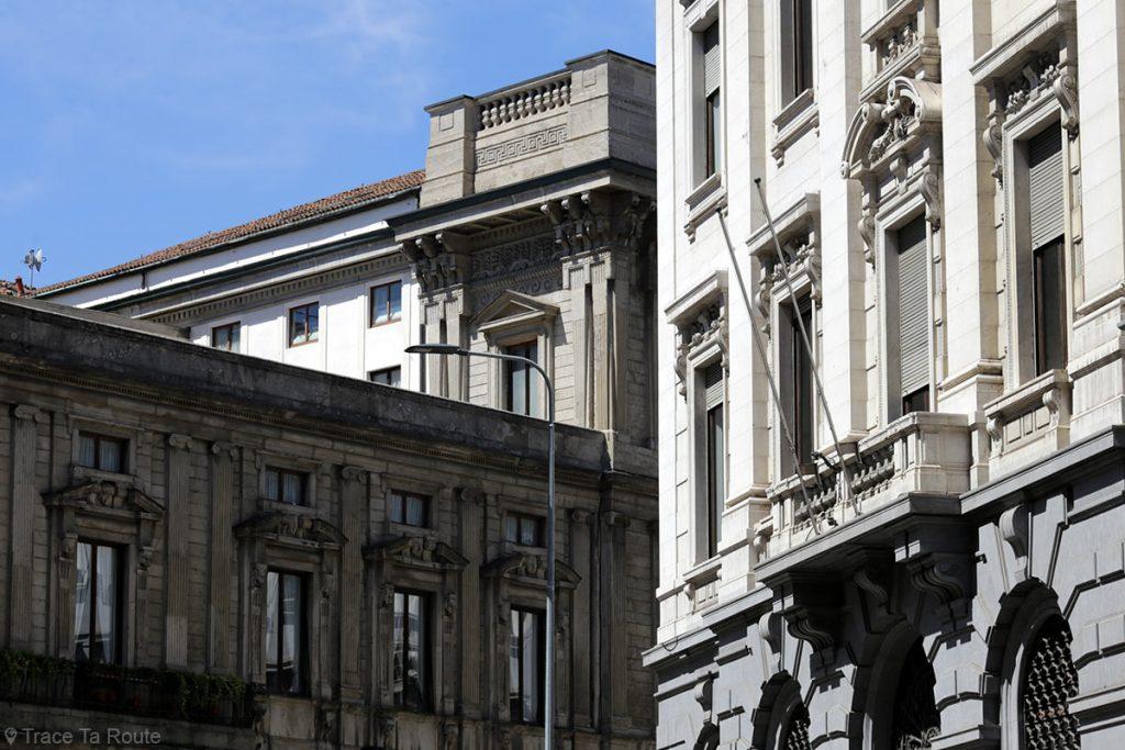 Architecture façade Palazzo Marino, Milano