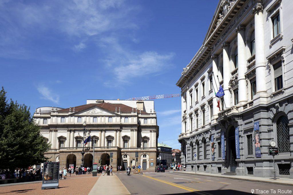 Théâtre de La Scala de Milan et la Gallerie d'Italia sur la Piazza della Scala - Teatro alla Scala di Milano