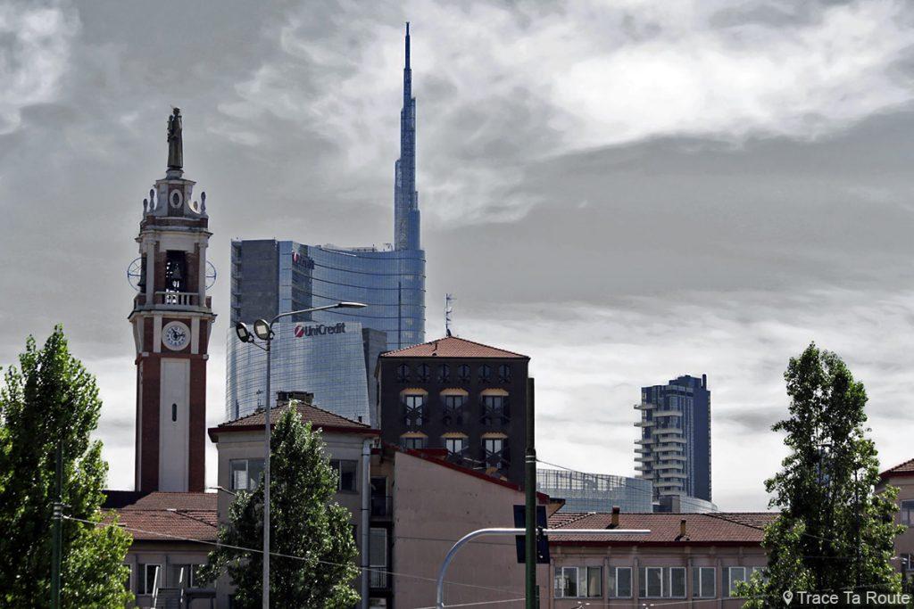 Immeubles de Milan - Gratte-ciel UniCredit Tower