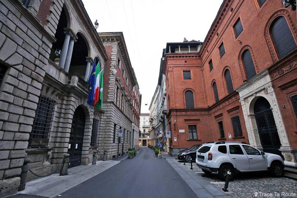 Rue Via Santo Spirito, Quadrilatère d'Or de Milan - Quadrilatero della Moda di Milano