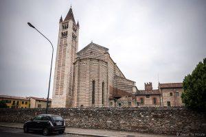 Campanile extérieur architecture Basilique San Zeno de Vérone - Basilica San Zeno Maggiore di Verona