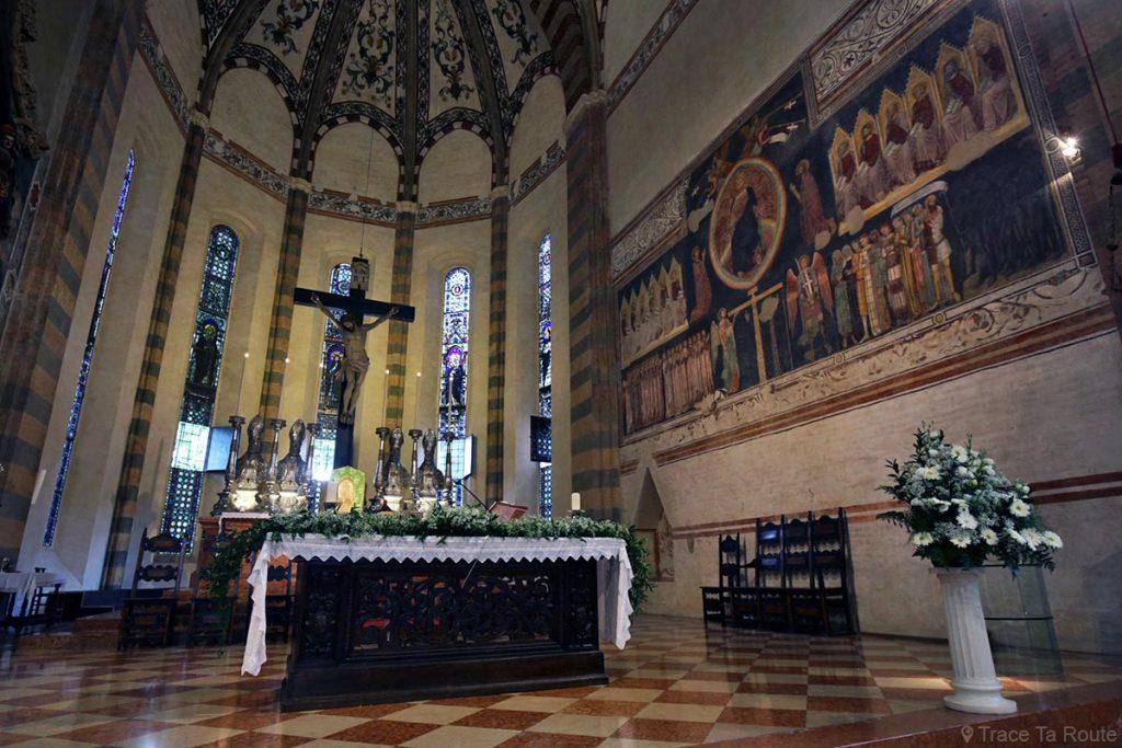Autel de la Basilique Sant'Anastasia de Vérone - Le Jugement Dernier - Chiesa San Pietro da Verona in Santa Anastasia Basilica
