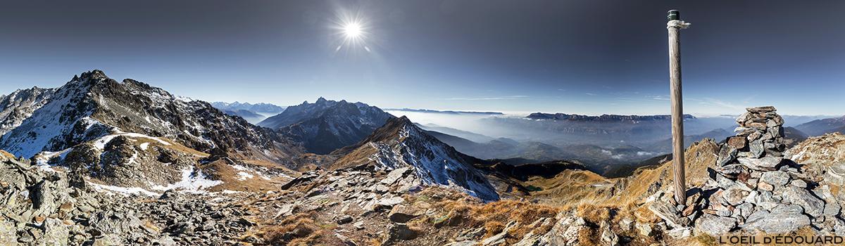 Vue au sommet de la Cime de la Jasse, Belledonne © L'Oeil d'Édouard