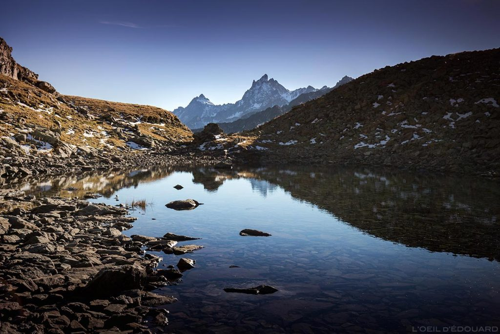 Lac du Vénétier et Grand Pic de Belledonne © L'Oeil d'Édouard
