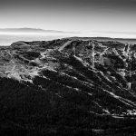 La Station de ski de Margériaz, vue au sommet du Mont Colombier, Massif des Bauges Savoie © L'Oeil d'Édouard