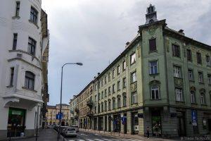 Bâtiment Art Nouveau Maison Pogacnik hiša, Tavčarjeva ulica, Parc Miklošičev, Ljubljana, Slovénie