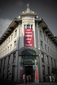 Galerie Emporium dans le Palais Urbanc (Urbančeva hiša) sur la Place Prešernov trg de Ljubljana, Slovénie