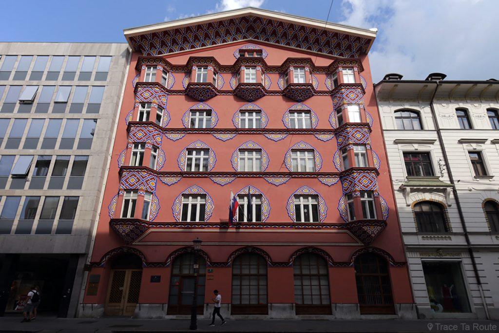 Bâtiment Art Nouveau Banque Coopérative Zadružna zveza Slovenije, Ljubljana, Slovénie - Slovenia / Slovenija