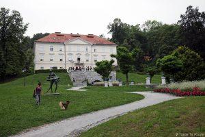 La Maison du Centre International des Arts Graphiques dans le Parc Tivoli de Ljubljana, Slovénie - Mednarodni grafični likovni center