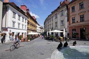 Place Strari trg dans la vieille ville de Ljubljana, Slovénie - Slovenia / Slovenija