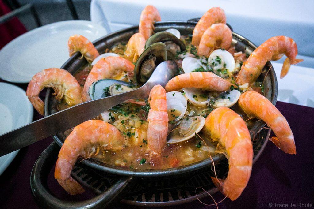 Riz aux fruits de mer - Restaurant O Jango - Rua de Santa Maria, Zona Velha, Funchal, Madère