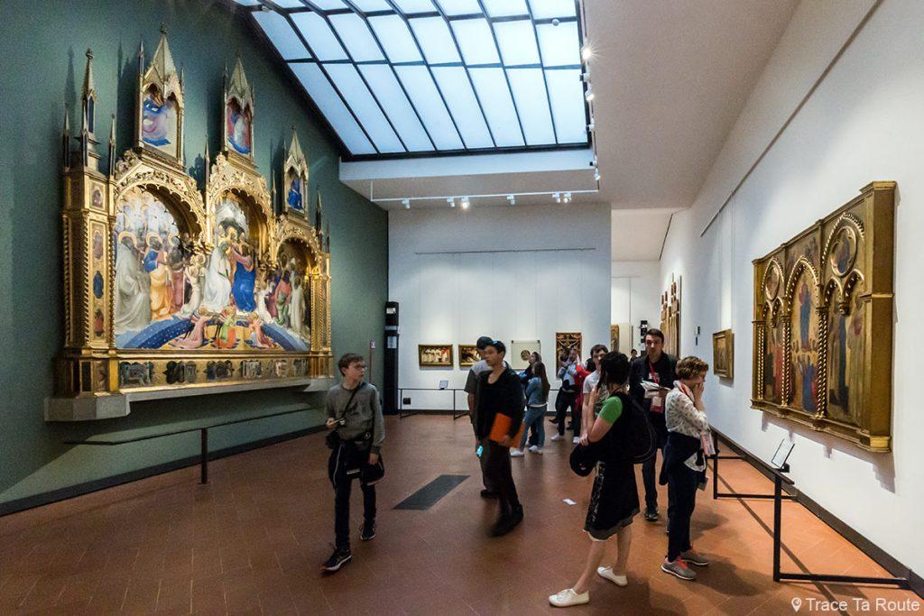 Salle 5 du Musée de la Galerie des Offices de Florence (Galleria degli Uffizi di Firenze) : Trecento Gothique International