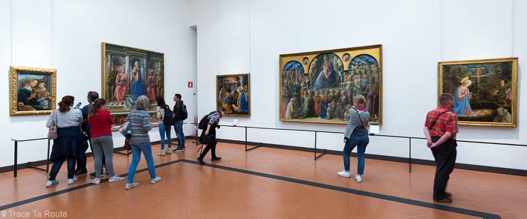 Salle 8 du Musée de la Galerie des Offices de Florence (Galleria degli Uffizi di Firenze) : Masaccio, Masolino, Lippi