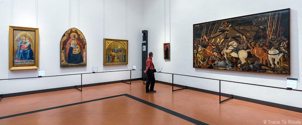 Salle 8 du Musée de la Galerie des Offices de Florence (Galleria degli Uffizi di Firenze) : Masaccio, Masolino, Uccello