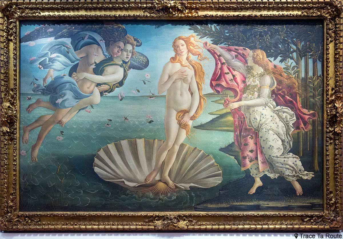 La Naissance de Vénus (1485) Alessandro BOTTICELLI - Musée de la Galerie des Offices de Florence (Galleria degli Uffizi di Firenze)