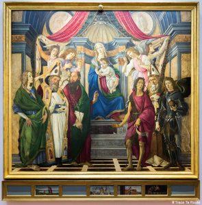 Vierge à l'Enfant avec les Saints (1487-1488) Alessandro BOTTICELLI - Musée de la Galerie des Offices de Florence (Galleria degli Uffizi di Firenze)