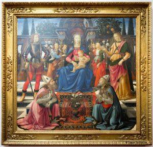 Vierge à l'Enfant avec les Archanges Michel et Raphaël et les Saints Juste et Zénobe (vers 1486) GHIRLANDAIO - Musée de la Galerie des Offices de Florence (Galleria degli Uffizi di Firenze)