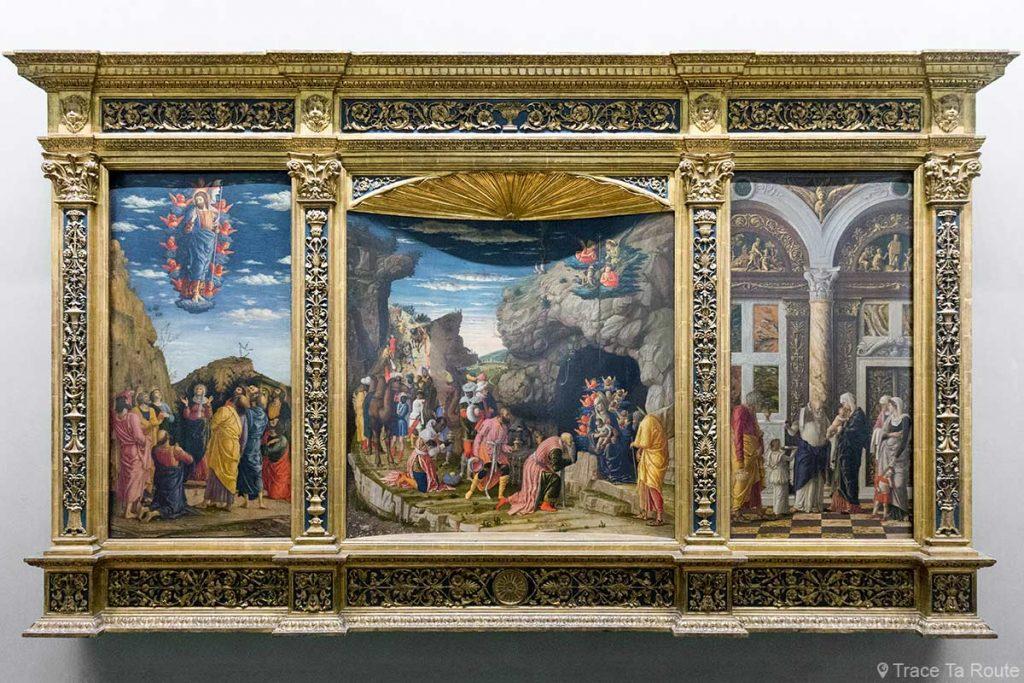 Scènes de la vie du Christ : Épiphanie, Circoncision, Ascension (1463-1464) Andrea MANTEGNA - Musée de la Galerie des Offices de Florence (Galleria degli Uffizi di Firenze)