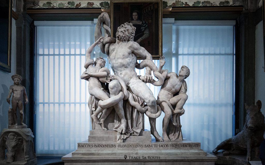 """Copie de la sculpture en marbre de """"Laocoon et ses fils"""" - Musée de la Galerie des Offices de Florence (Galleria degli Uffizi di Firenze)"""