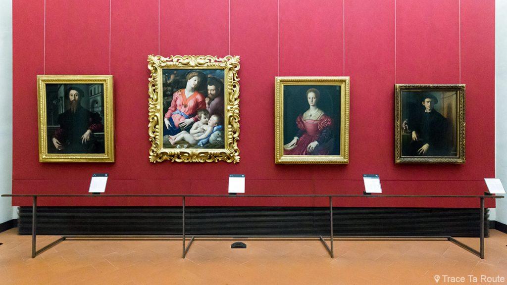 Salle des Peintures de BRONZINO - Musée de la Galerie des Offices de Florence (Galleria degli Uffizi di Firenze)