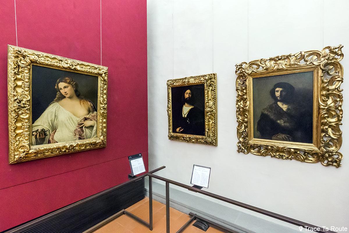 Salle des peintures des Portraits du TITIEN - Musée de la Galerie des Offices de Florence (Galleria degli Uffizi di Firenze)