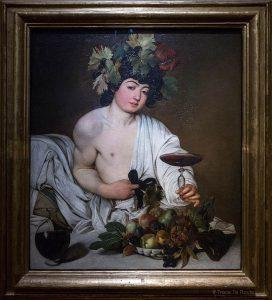 Bacchus (1597-1598) LE CARAVAGE - Musée de la Galerie des Offices de Florence (Galleria degli Uffizi di Firenze)