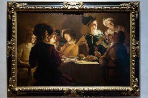 Dîner avec un joueur de luth (1619-1620) Gherardo DELLE NOTTI - Musée de la Galerie des Offices de Florence (Galleria degli Uffizi di Firenze)