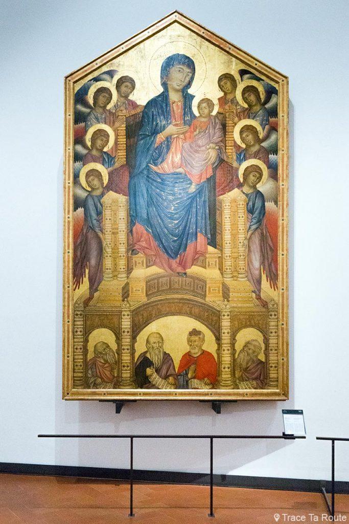 """Vierge à l'Enfant sur le trône avec anges et prophètes """"Maestà di Santa Trinita"""" (1290-1300) CIMABUE - Musée de la Galerie des Offices de Florence (Galleria degli Uffizi di Firenze)"""