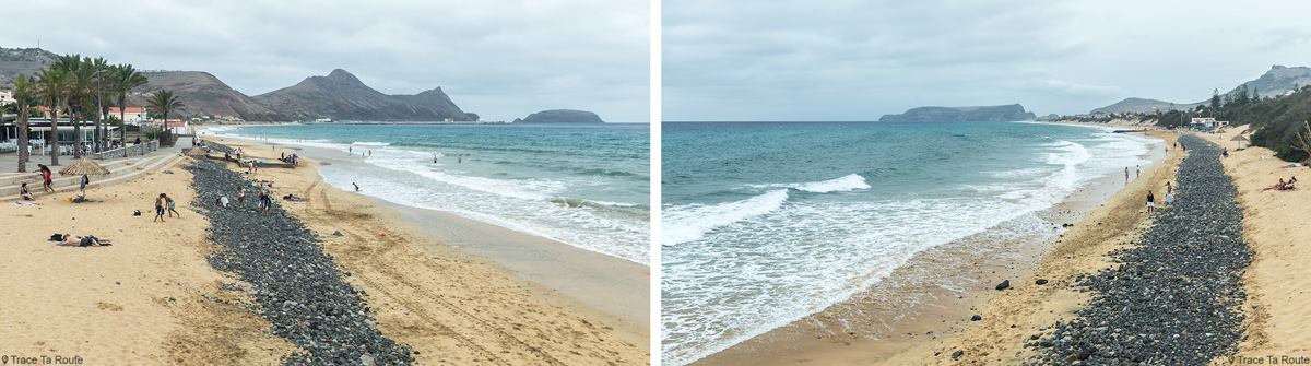 Vila Baleira sur l'Île de Porto Santo Praia Dourada, Madère / Madeira Islands