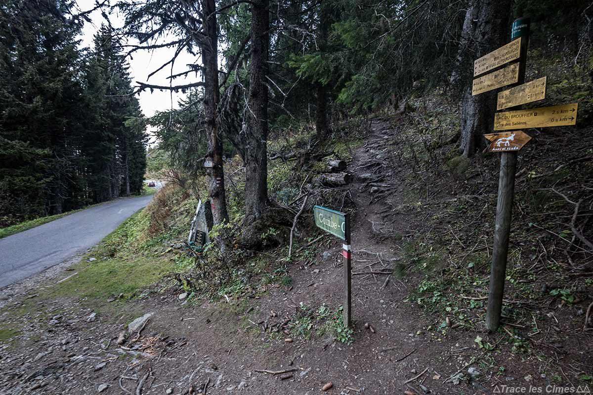 Itinéraire sentier de randonnée Combe Oursière, Massif du Taillefer, Isère