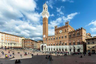 Piazza del Campo de Sienne et le Palazzo Pubblico di Siena (Museo Civico) © L'Oeil d'Édouard