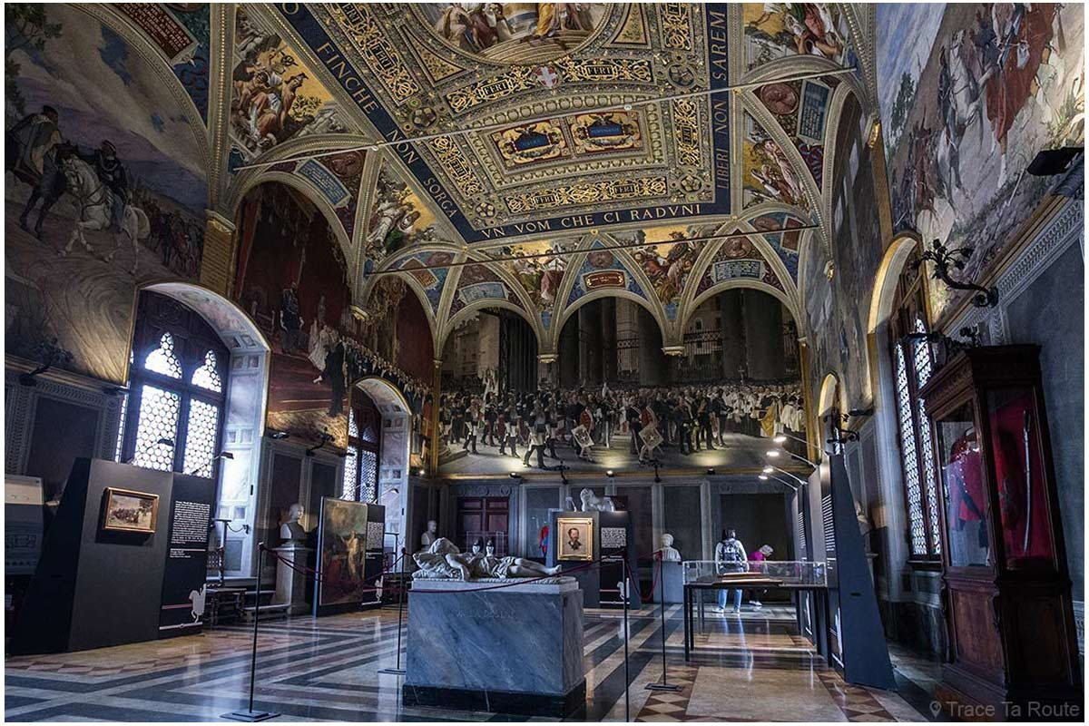 Salle du Risorgimento du Museo Civico de Sienne - Sala del Risorgimento di Palazzo Pubblico di Siena