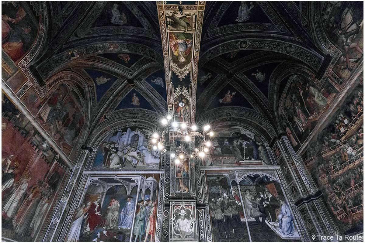 Plafond de la Salle des Prieurs du Museo Civico de Sienne - Sala Sala di Balia di Palazzo Pubblico di Siena
