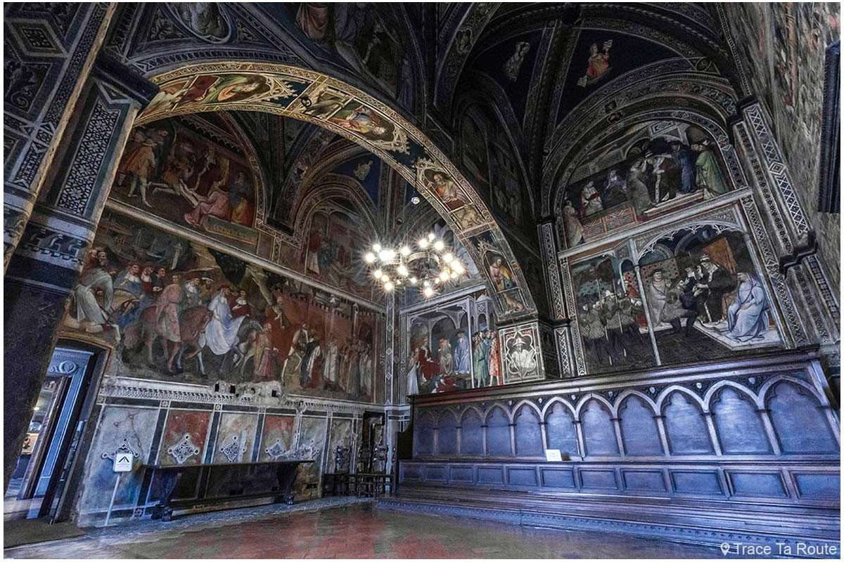Salle des Prieurs du Museo Civico de Sienne - Sala Sala di Balia di Palazzo Pubblico di Siena