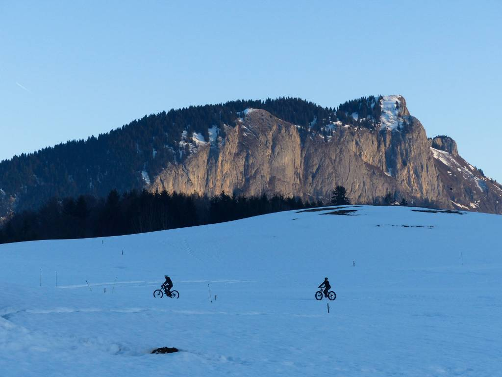 Initiation au Fat bike dans les Alpes