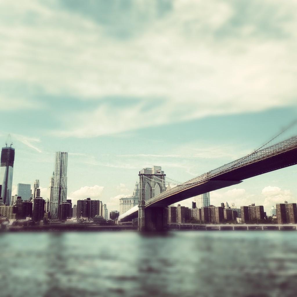 Vue sur Manhattan et le pont de Brooklyn