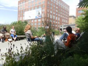 la highline accueille beaucoup de gens cools et décontractés